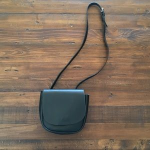 Topshop Black Faux Leather Cross Body Bag